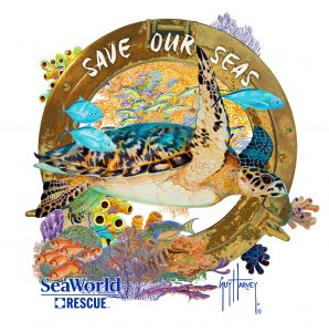 SeaWorld_Guy Harvey_SAVE OUR SEAS TURTLE ART