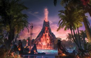 In early summer 2017, a first-of-its-kind water theme park will erupt at Universal Orlando Resort – Universal's Volcano Bay. It will be an innovative experience filled with incredible thrills and perfected relaxation.  Volcano Bay will span 30 fully immersive acres and feature a variety of experiences that range from daring to serene.  Dozens of unique attractions will offer something for everyone, including a multi-directional wave pool with sandy beaches, peaceful winding river, twisting multi-rider raft rides, speeding body slides that drop from the top of the volcano into the waters below – and more.  And the best part – guests won't have to wait in long lines to enjoy any of it.